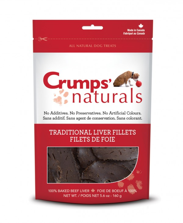 Crumps Naturals Beef Liver treats for dogs