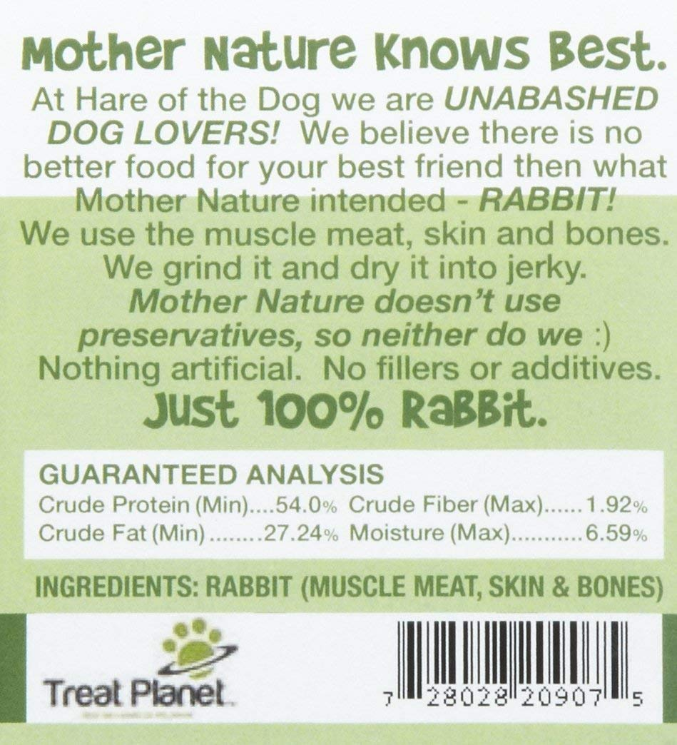 Rabbit Jerky Back Label