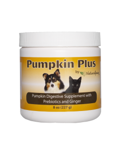 Naturalpaw Pumpkin Plus digestive supplement for dogs.