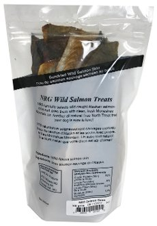 NRG pet products Salmon skin dog treats