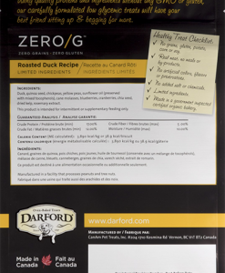 Darford Zero/g roasted duck dog treats