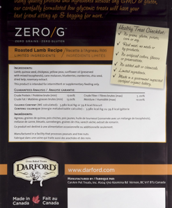Darford Zero/g roasted lamb dog treats