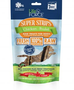 LifeForce Super Strips Dehydrated Chicken treats