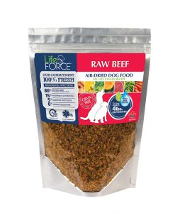 Lifeforce dehydrated beef raw dog food