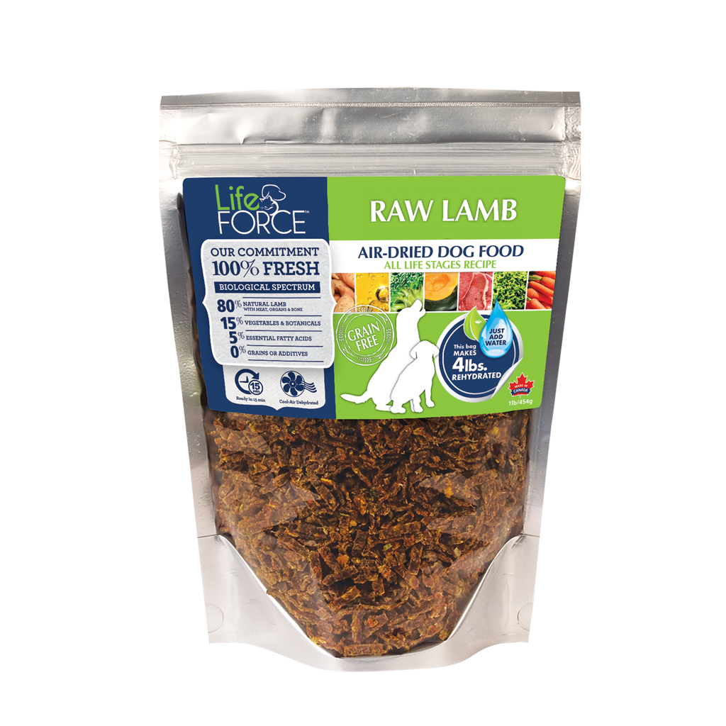 Dehydrated lamb grain free dog food