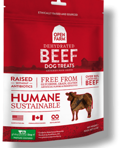 Open Farm Beef Treats for Dogs.