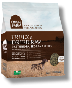 Open Farm Freeze Dried Lamb Raw Dog Food.