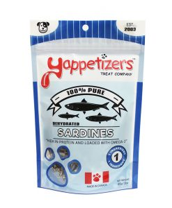 Yappetizers whole sardines pet treat