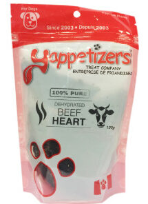 Yappetizers Beef Hearts dog treat