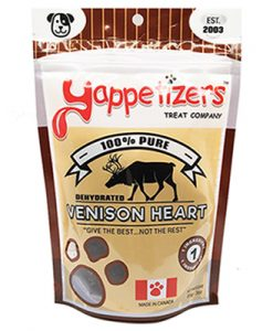 Venison Heart dog treat by Yappetizers.