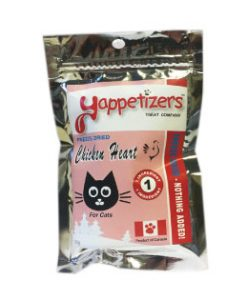 Yappetizers treats Chicken hearts freeze dried