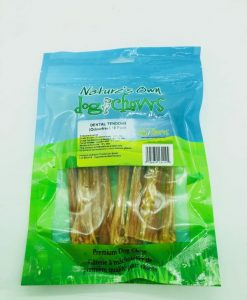 Nature's Own Dog Chews beef tendons for small dogs.