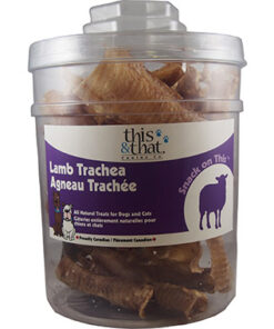This & That Lamb Trachea dehydrated dog chew