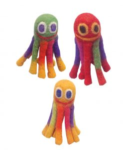 Le Sharma Mini Octopus wool pet toy