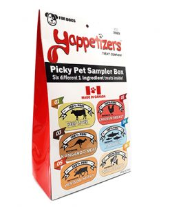 Yappetizers pet treats sampler box