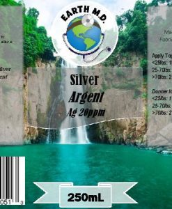 Colloidal Silver Earth MD 20 ppm Label