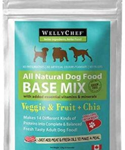 WellyTails Veggie Fruit Base mix fresh dog food